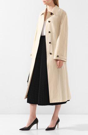 Женская кожаные туфли GIORGIO ARMANI черного цвета, арт. X1E713/XC087 | Фото 2