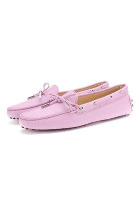 Женские кожаные мокасины heaven TOD'S розового цвета, арт. XXW0FW050305J1 | Фото 1