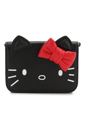 Женские кожаный кошелек kitty BALENCIAGA черного цвета, арт. 623241/1CBQ3 | Фото 1