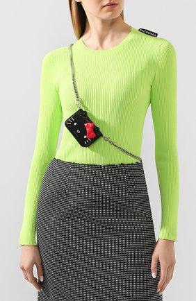 Женские кожаный кошелек kitty BALENCIAGA черного цвета, арт. 623241/1CBQ3 | Фото 2