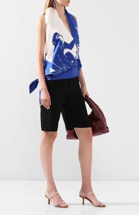 Женские кожаные босоножки bare THE ROW хаки цвета, арт. F1099-L35 | Фото 2