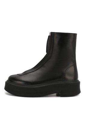 Женские кожаные ботинки THE ROW черного цвета, арт. F1144-L64R   Фото 3