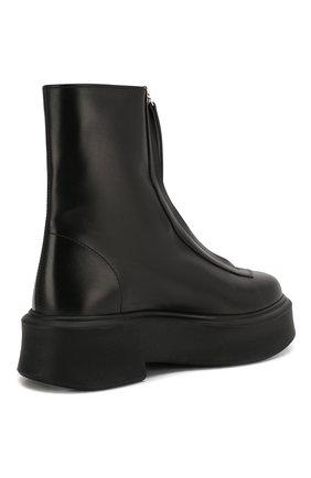 Женские кожаные ботинки THE ROW черного цвета, арт. F1144-L64R   Фото 4