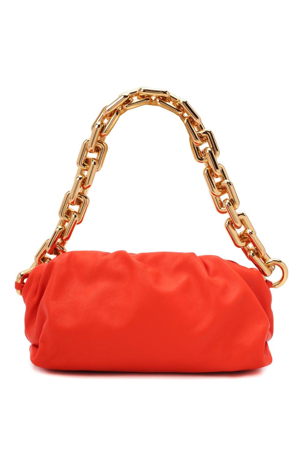 Женская сумка chain pouch BOTTEGA VENETA оранжевого цвета, арт. 620230/VCP40   Фото 1