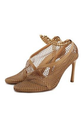 Женская текстильные туфли the new mesh BOTTEGA VENETA бежевого цвета, арт. 618755/VBPS3 | Фото 1