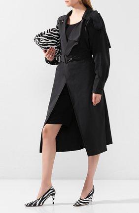 Женская кожаные туфли BOTTEGA VENETA черно-белого цвета, арт. 618782/VBTH0 | Фото 2