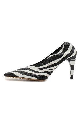Женские кожаные туфли BOTTEGA VENETA черно-белого цвета, арт. 618782/VBTH0 | Фото 3