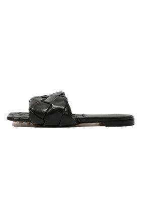 Женские кожаные шлепанцы BOTTEGA VENETA черного цвета, арт. 608853/VBSS0   Фото 4