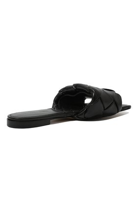 Женские кожаные шлепанцы BOTTEGA VENETA черного цвета, арт. 608853/VBSS0   Фото 5