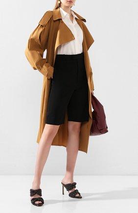 Женские кожаные мюли bv curve BOTTEGA VENETA коричневого цвета, арт. 618757/VBTG0 | Фото 2