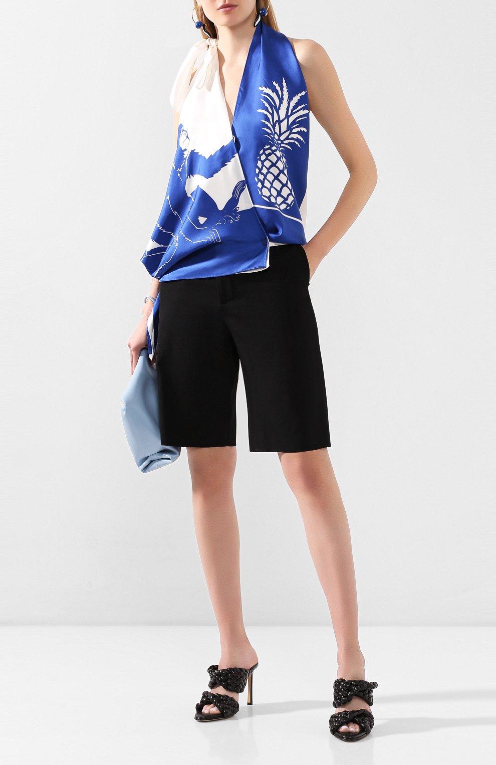 Женские кожаные мюли bv curve BOTTEGA VENETA черного цвета, арт. 618757/VBTG0 | Фото 2