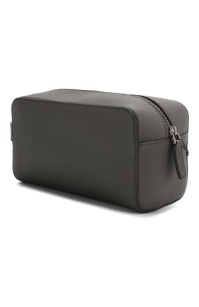 Мужской кожаный несессер GIORGIO ARMANI темно-серого цвета, арт. Y2R415/YTI8J | Фото 2