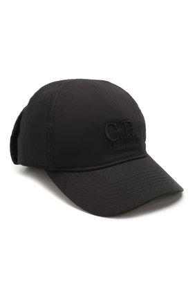 Мужской хлопковая бейсболка C.P. COMPANY черного цвета, арт. 08CMAC096A-005279A | Фото 1