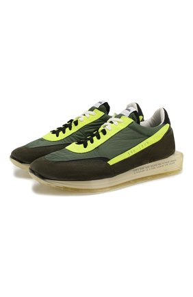 Мужские комбинированные кроссовки RBRSL хаки цвета, арт. 7X2256U.V78TXTTD29 | Фото 1