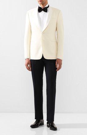 Мужской пиджак из смеси шелка и шерсти GIORGIO ARMANI кремвого цвета, арт. 0SGGG0EC/T01K6 | Фото 2