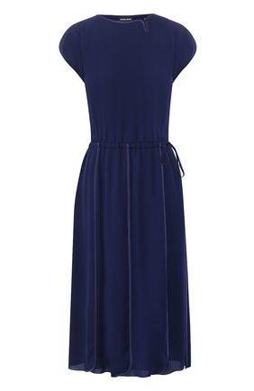 Женское шелковое платье GIORGIO ARMANI синего цвета, арт. 0SHVA04D/T008Q   Фото 1