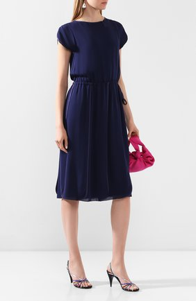 Женское шелковое платье GIORGIO ARMANI синего цвета, арт. 0SHVA04D/T008Q   Фото 2
