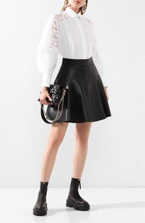 Женская хлопковая рубашка VALENTINO белого цвета, арт. TB0AB17K1M1 | Фото 2