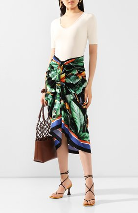 Женская шелковая юбка DOLCE & GABBANA разноцветного цвета, арт. F4BV2T/FPAIL | Фото 2