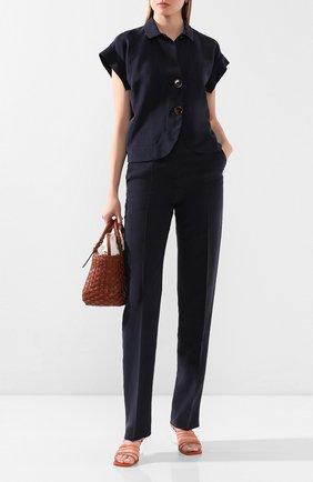 Женская шелковая рубашка GIORGIO ARMANI темно-синего цвета, арт. 0SHGG0D4/T01HI | Фото 2