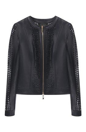 Женская кожаная куртка ESCADA темно-синего цвета, арт. 5032753 | Фото 1