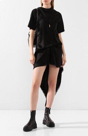 Женское платье ALEXANDER WANG черного цвета, арт. 1WC1206290 | Фото 2