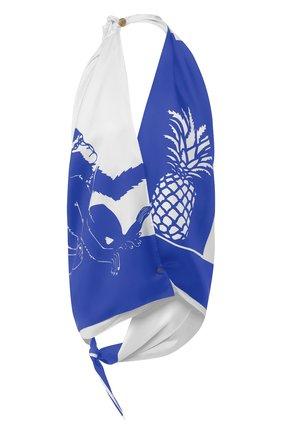 Женский шелковый топ BOTTEGA VENETA синего цвета, арт. 623699/VKSX0 | Фото 1