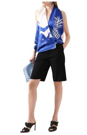 Женская шелковый топ BOTTEGA VENETA синего цвета, арт. 623699/VKSX0 | Фото 2