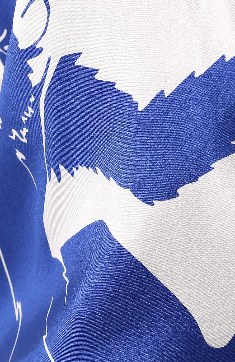 Женский шелковый топ BOTTEGA VENETA синего цвета, арт. 623699/VKSX0 | Фото 5