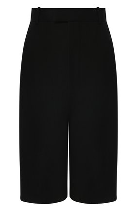 Женские шерстяные шорты BOTTEGA VENETA черного цвета, арт. 618531/VKPZ0 | Фото 1