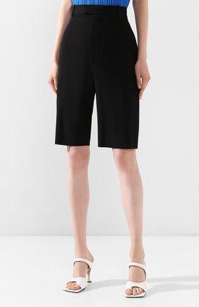 Женские шерстяные шорты BOTTEGA VENETA черного цвета, арт. 618531/VKPZ0 | Фото 3