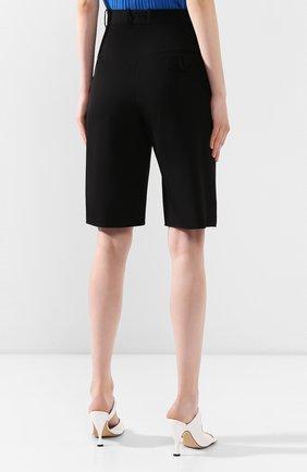 Женские шерстяные шорты BOTTEGA VENETA черного цвета, арт. 618531/VKPZ0 | Фото 4