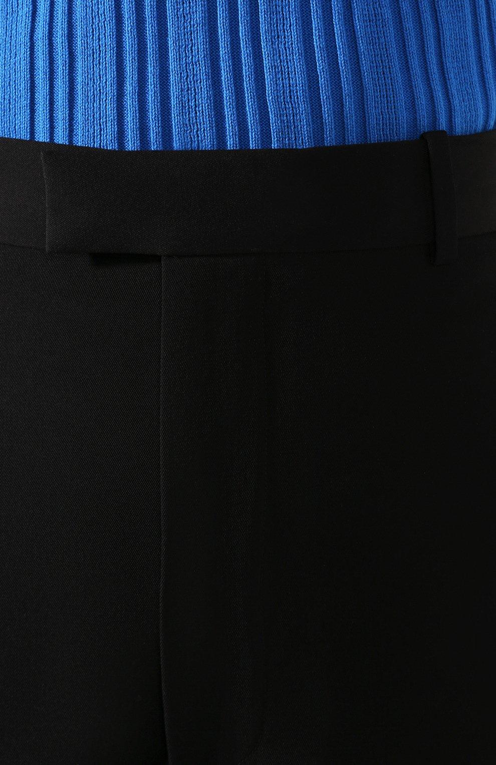 Женские шерстяные шорты BOTTEGA VENETA черного цвета, арт. 618531/VKPZ0 | Фото 5