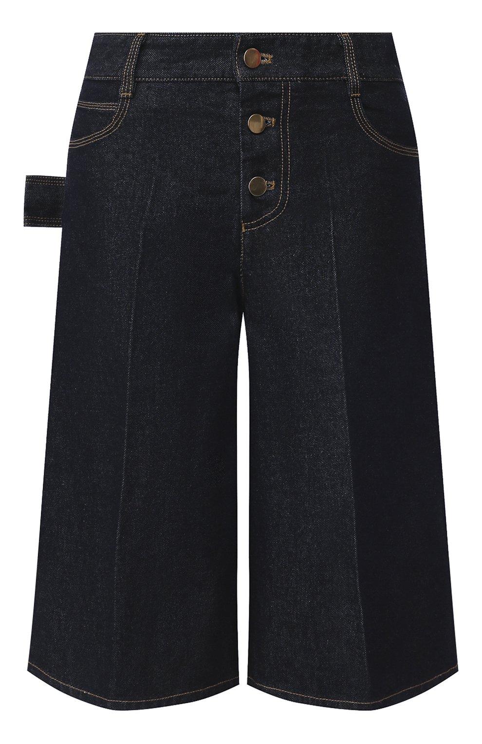 Женские джинсовые шорты BOTTEGA VENETA синего цвета, арт. 618496/VF400   Фото 1