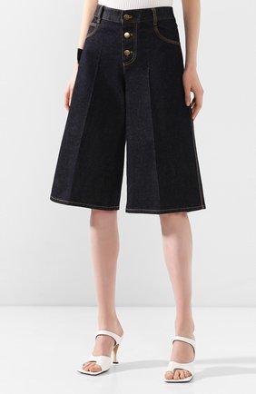 Женские джинсовые шорты BOTTEGA VENETA синего цвета, арт. 618496/VF400   Фото 3