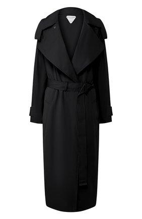 Женский хлопковый тренч BOTTEGA VENETA черного цвета, арт. 616562/VA5Y0 | Фото 1