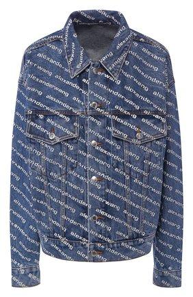Женская джинсовая куртка DENIM X ALEXANDER WANG синего цвета, арт. 4DC1202645 | Фото 1
