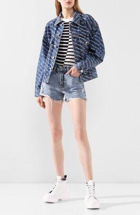 Женская джинсовая куртка DENIM X ALEXANDER WANG синего цвета, арт. 4DC1202645 | Фото 2