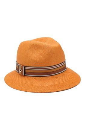 Женская соломенная шляпа ingrid LORO PIANA оранжевого цвета, арт. FAI5791   Фото 1