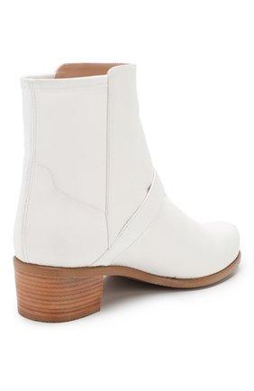 Женские кожаные ботинки STUART WEITZMAN белого цвета, арт. S6374 | Фото 4