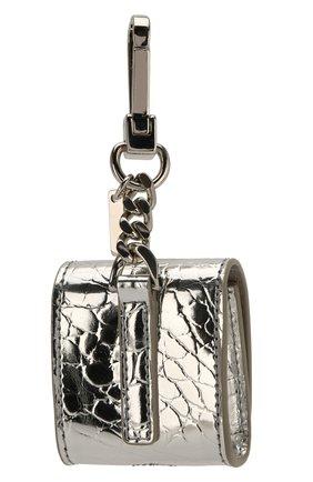 Мужской чехол для airpods BURBERRY серебряного цвета, арт. 8023500 | Фото 2