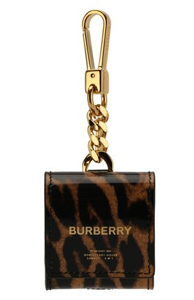 Мужской чехол для airpods BURBERRY леопардового цвета, арт. 8025178 | Фото 1