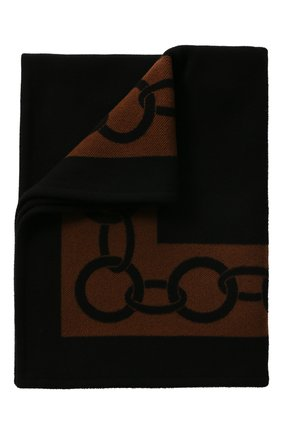 Мужского шерстяной плед FRETTE черного цвета, арт. FR6607 F0400 130I | Фото 1