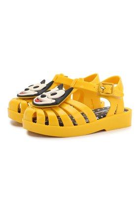 Детские сандалии MELISSA желтого цвета, арт. 32675 | Фото 1