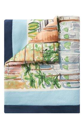 Мужского кашемировый плед LORO PIANA голубого цвета, арт. FAL1541 | Фото 1