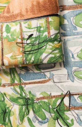 Мужского кашемировый плед LORO PIANA голубого цвета, арт. FAL1541 | Фото 2