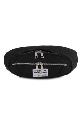 Мужская текстильная поясная сумка COMME DES FUCKDOWN черного цвета, арт. CDFA11NB | Фото 1