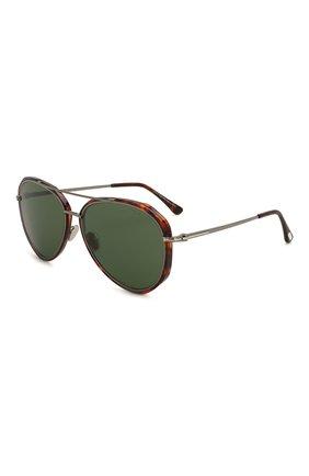 Мужские солнцезащитные очки TOM FORD коричневого цвета, арт. TF749 | Фото 1