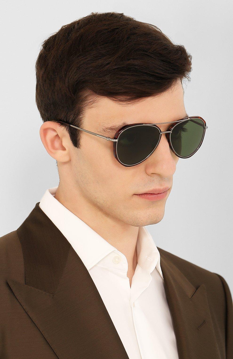 Мужские солнцезащитные очки TOM FORD коричневого цвета, арт. TF749 | Фото 2
