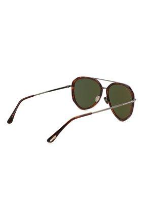Мужские солнцезащитные очки TOM FORD коричневого цвета, арт. TF749 | Фото 4